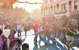 crowded street in Disneyland