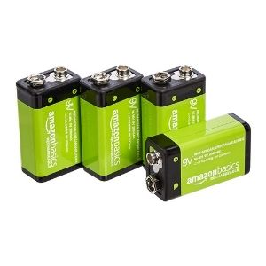 AmazonBasics rechargeable 9 volt batteries product image