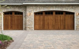 paved driveway and garage