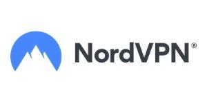 NordVPN Logo white mountain on blue circle