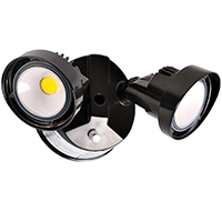 black dual-head security spotlights