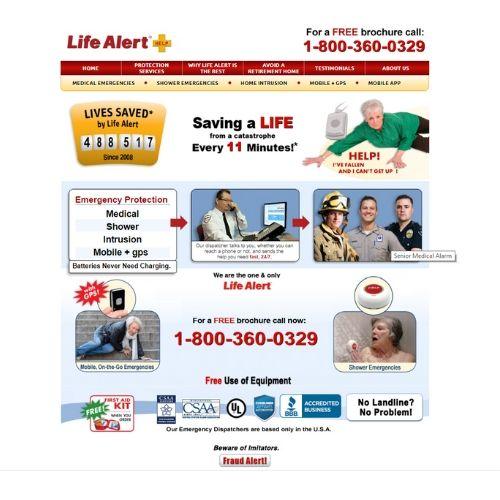 Life Alert web page
