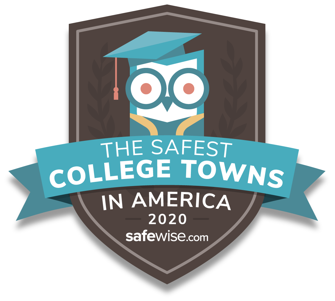 safest college towns badge 2020