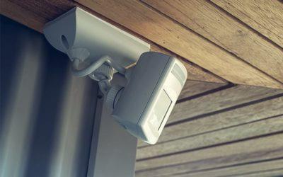 Motion sensor mounted on the wall
