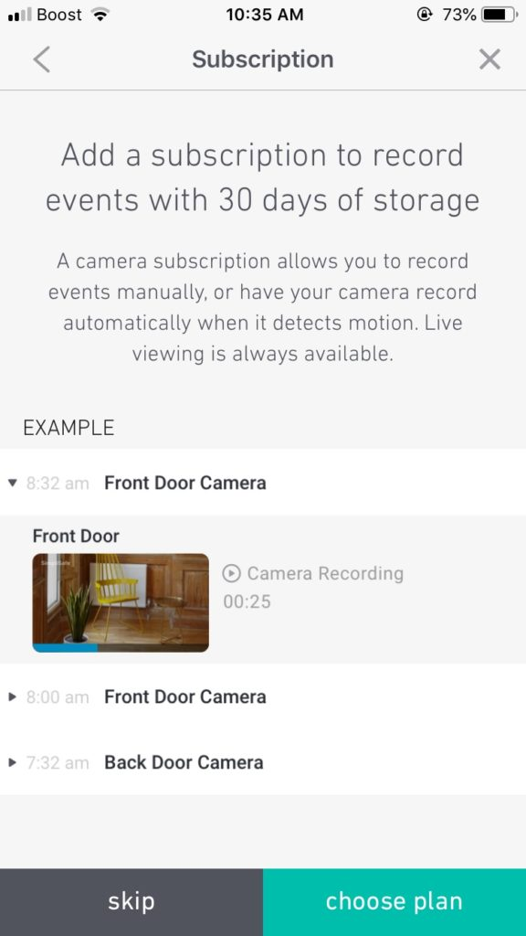 "simplisafe app screen""add subscription"""