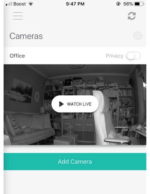 simplisafe app live feed