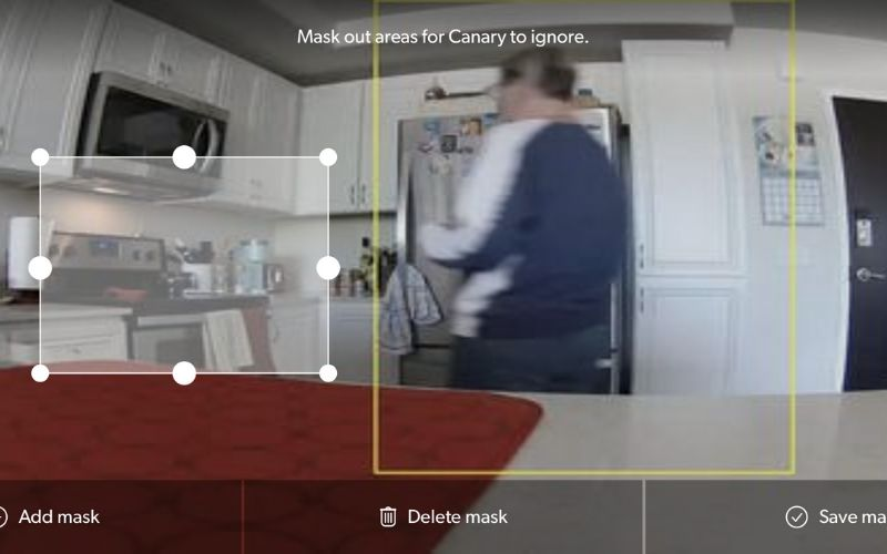 screenshot of the canary masking feature