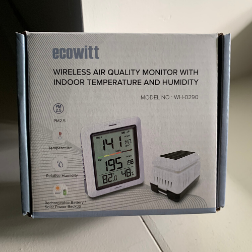 Ecowitt WH0290 Air Quality Monitor Meter