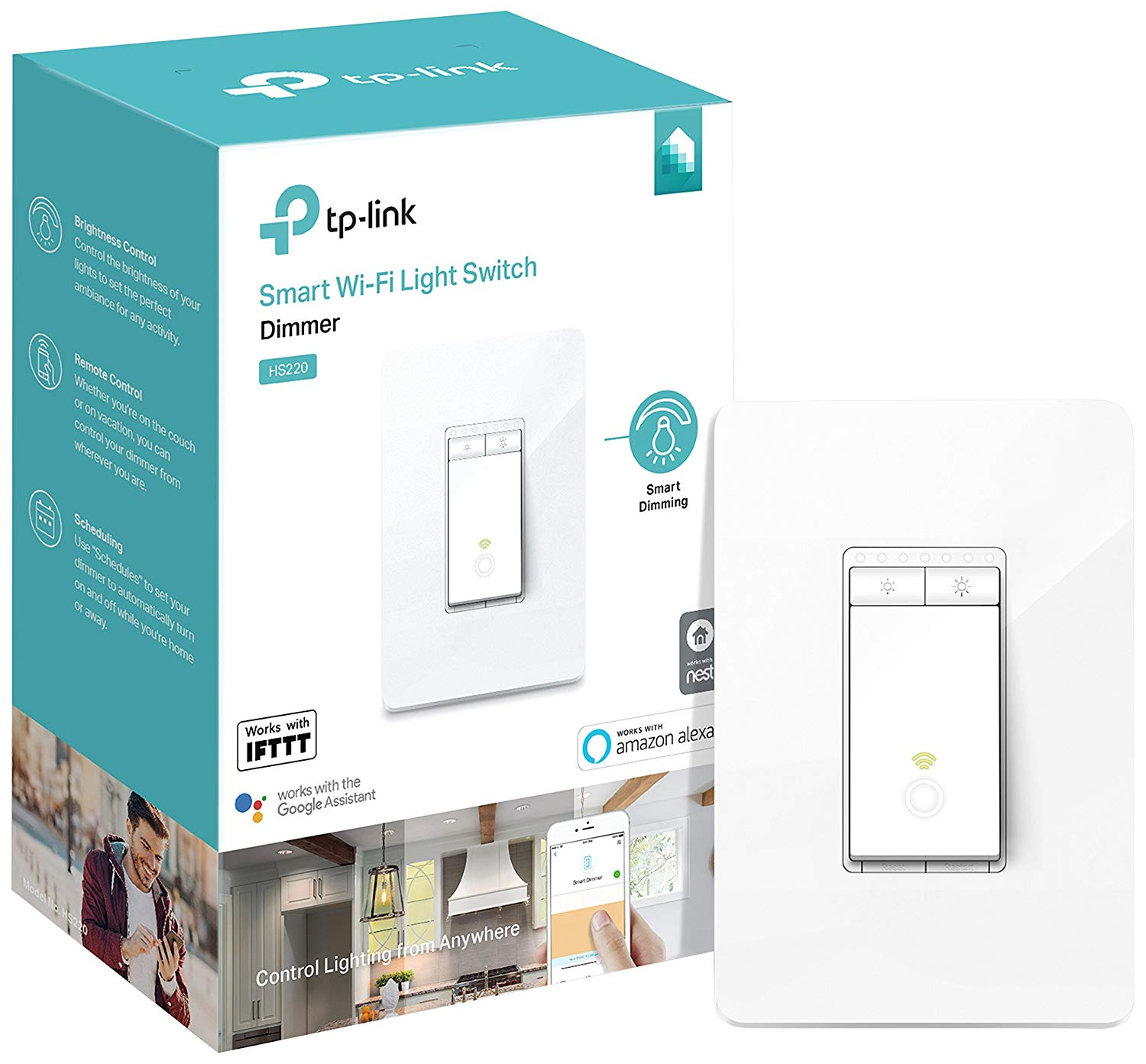 kasa smart light dimmer in box
