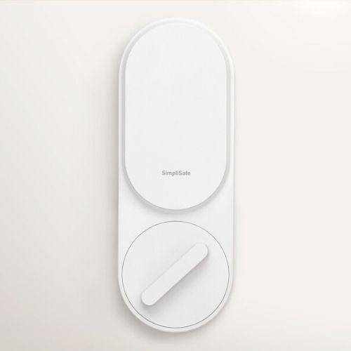 White simplisafe smart lock