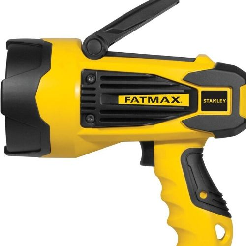 yellow and black rechargeable flashlight
