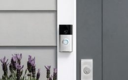 Ring Doorbell Camera on doorframe