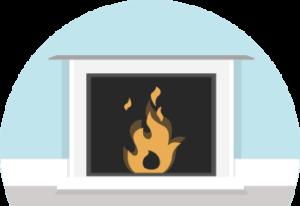 fireplace illustration