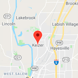 Kiezer, Oregon map