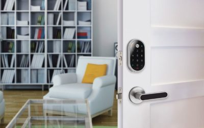 yale lock on door
