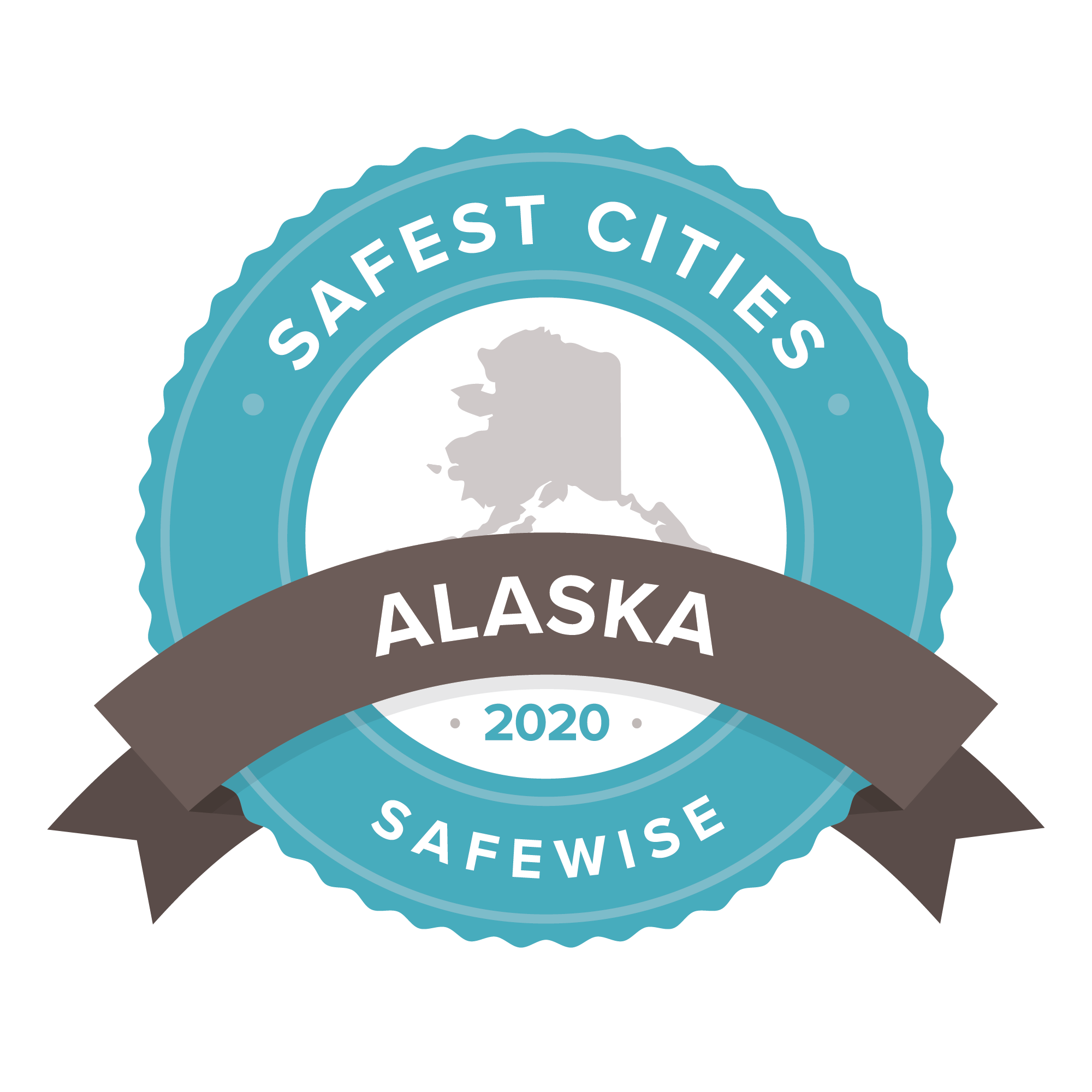 Alaska safest cities badge