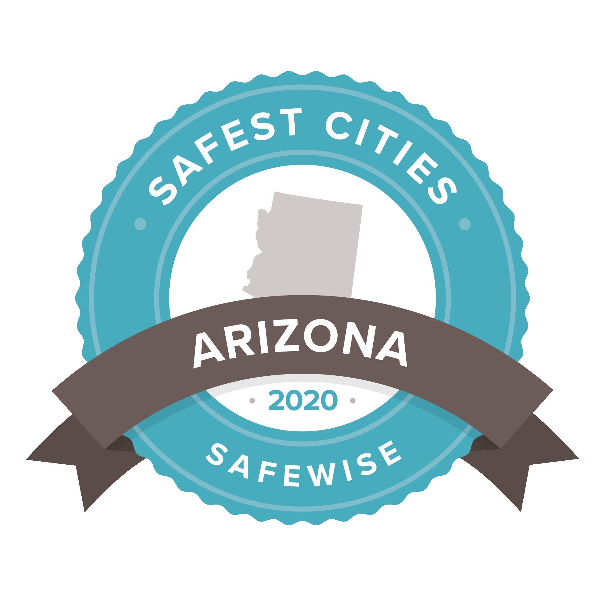 Arizona Safest cities badge