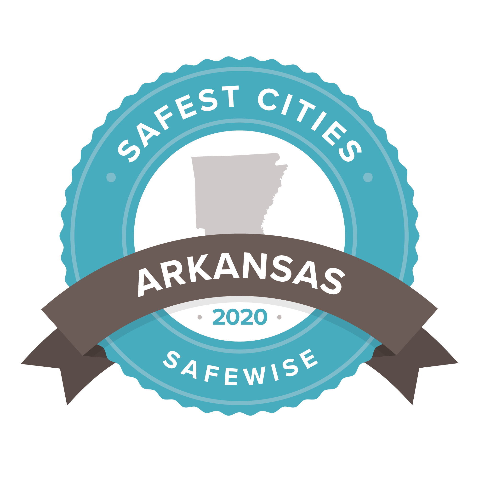Arkansas safest cities badge 2020