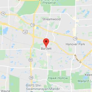 Bartlett, IL Map