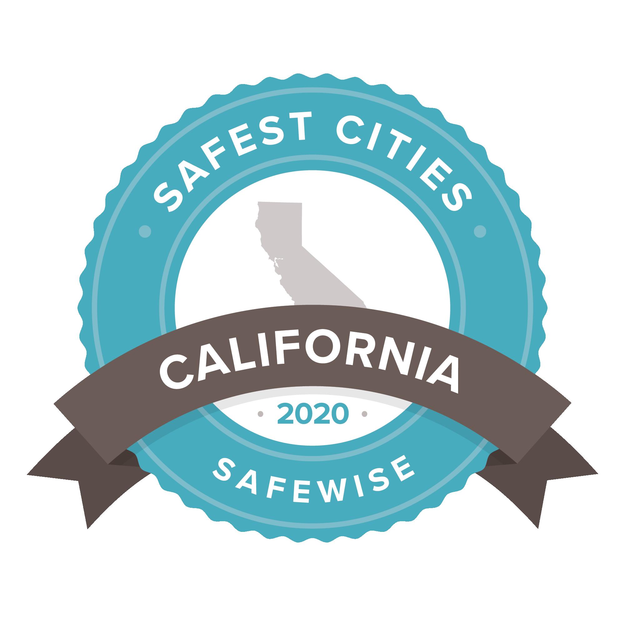 California safest cities badge