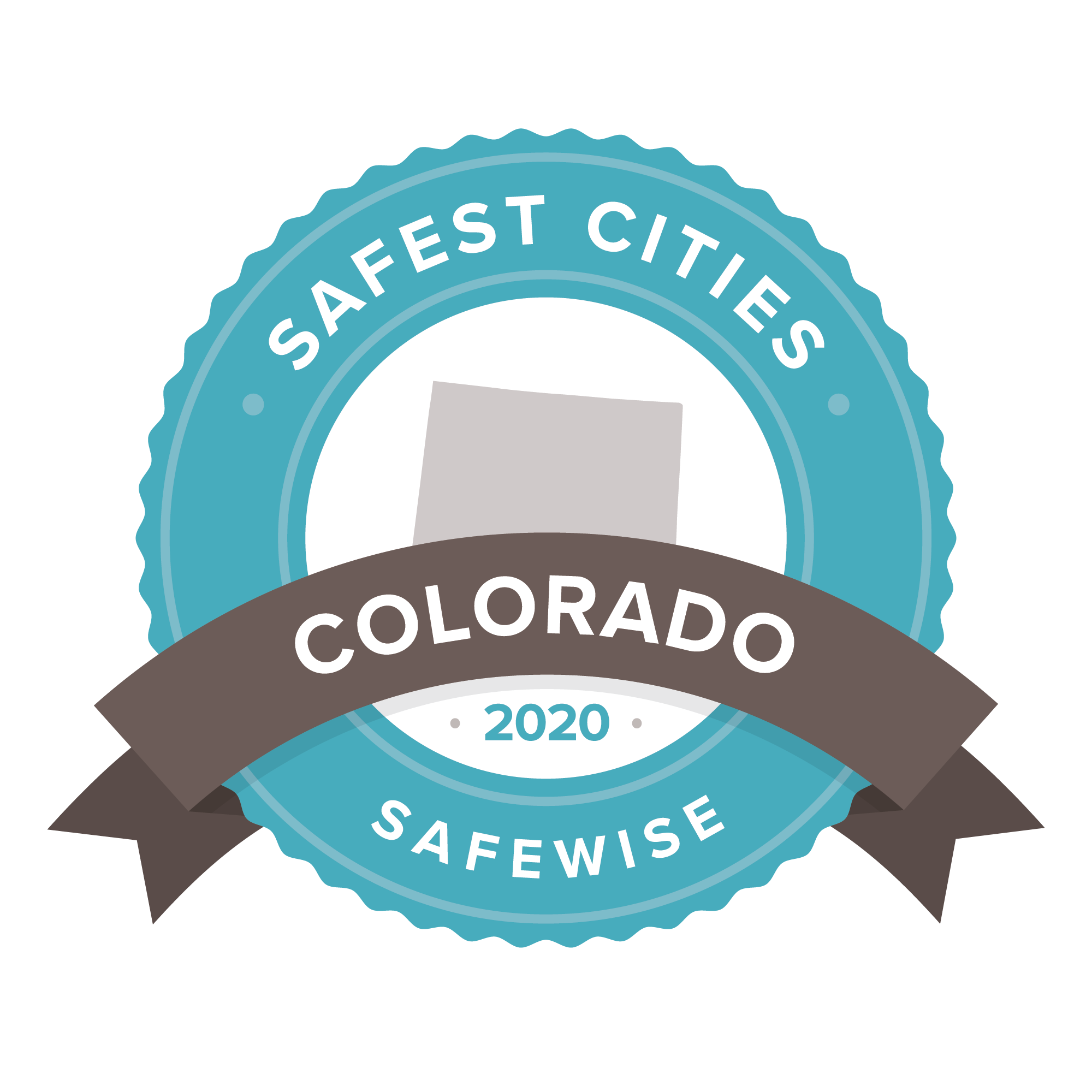 Colorado safest cities badge