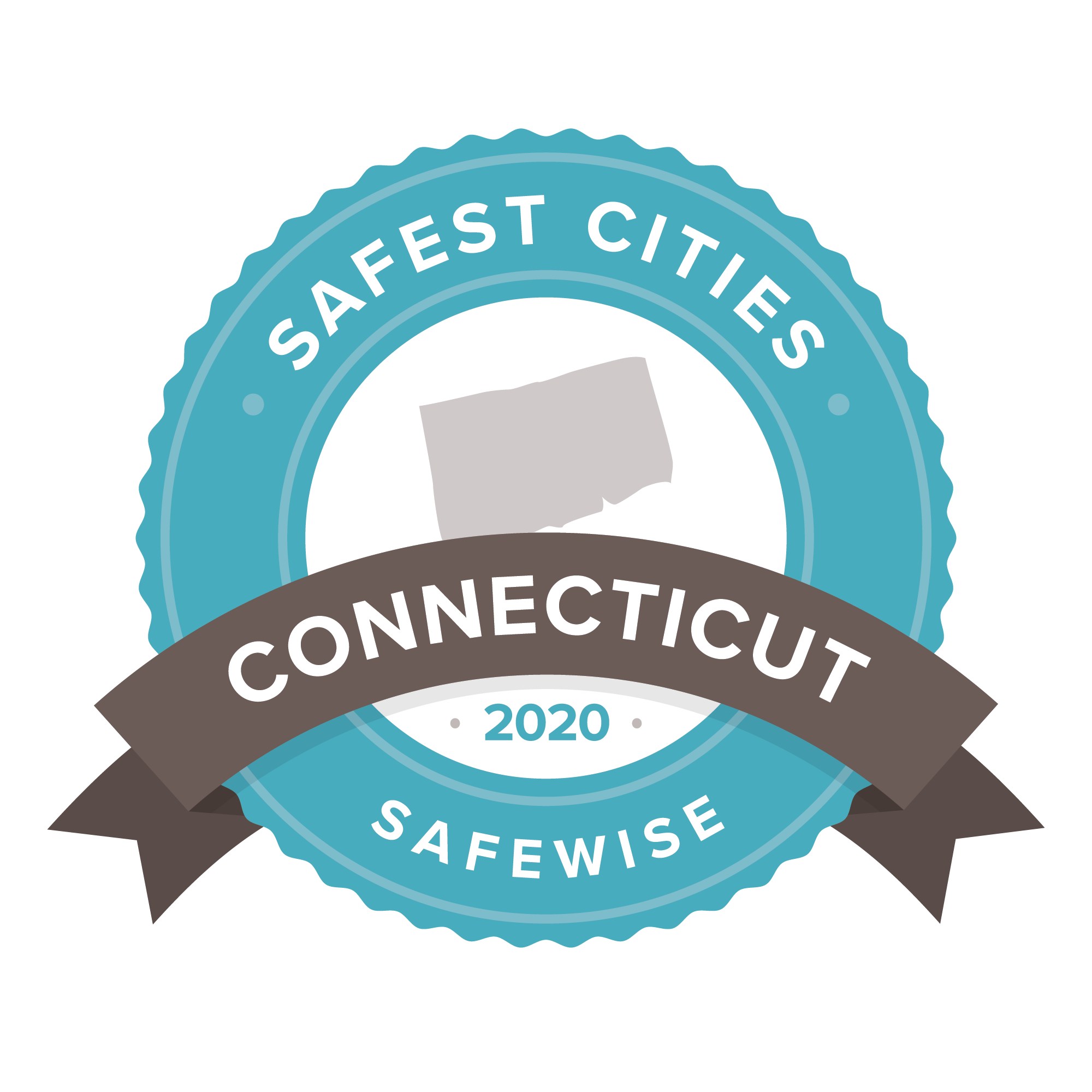 Connecticut safest cities badge