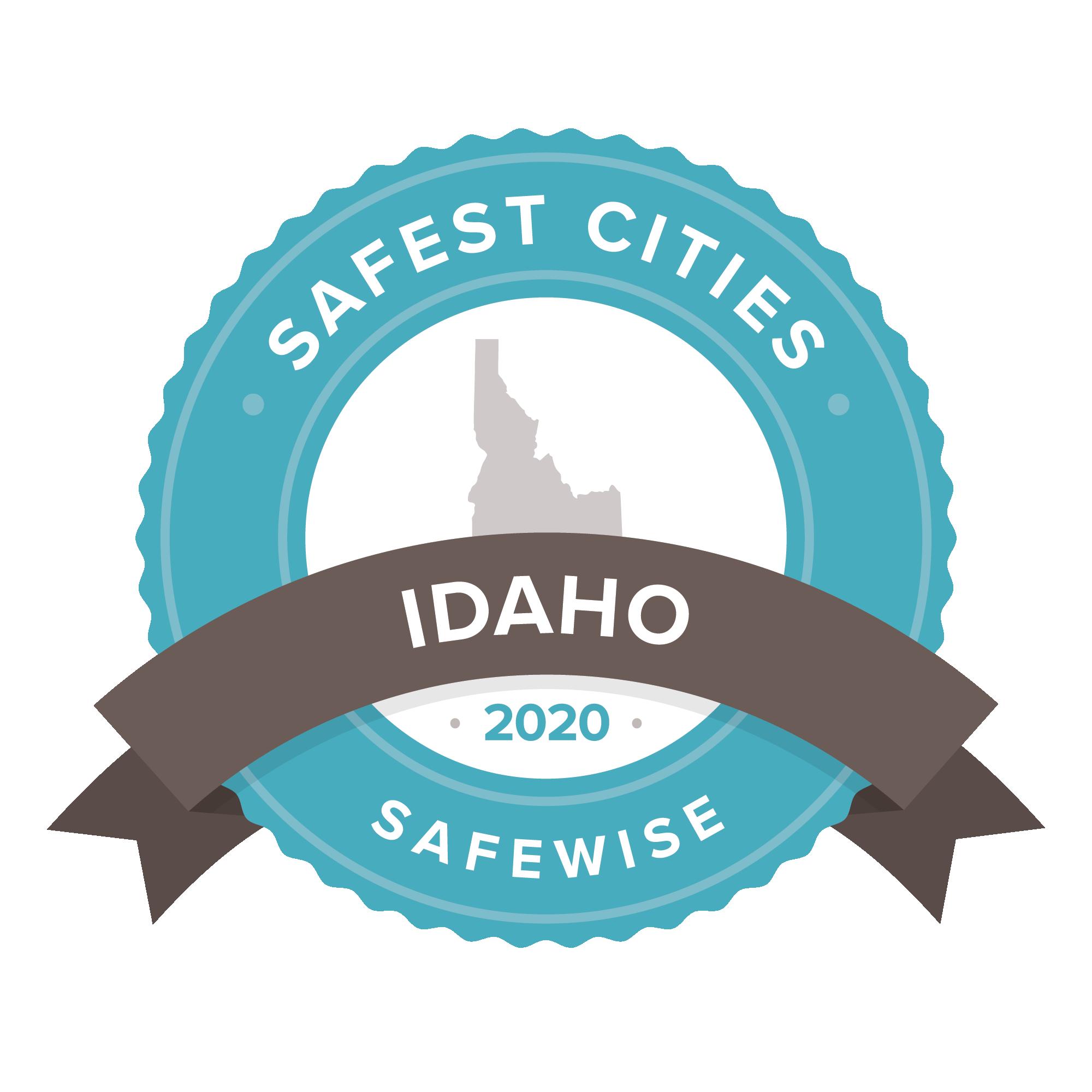 Idaho safest cities badge 2020