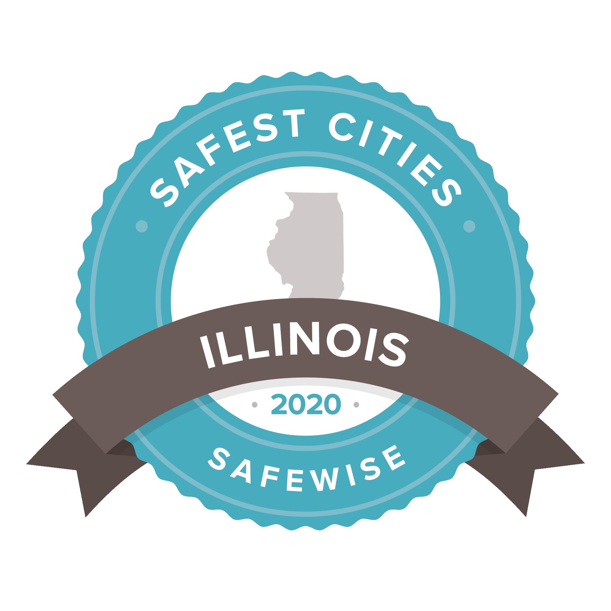 Illinois safest cities badge