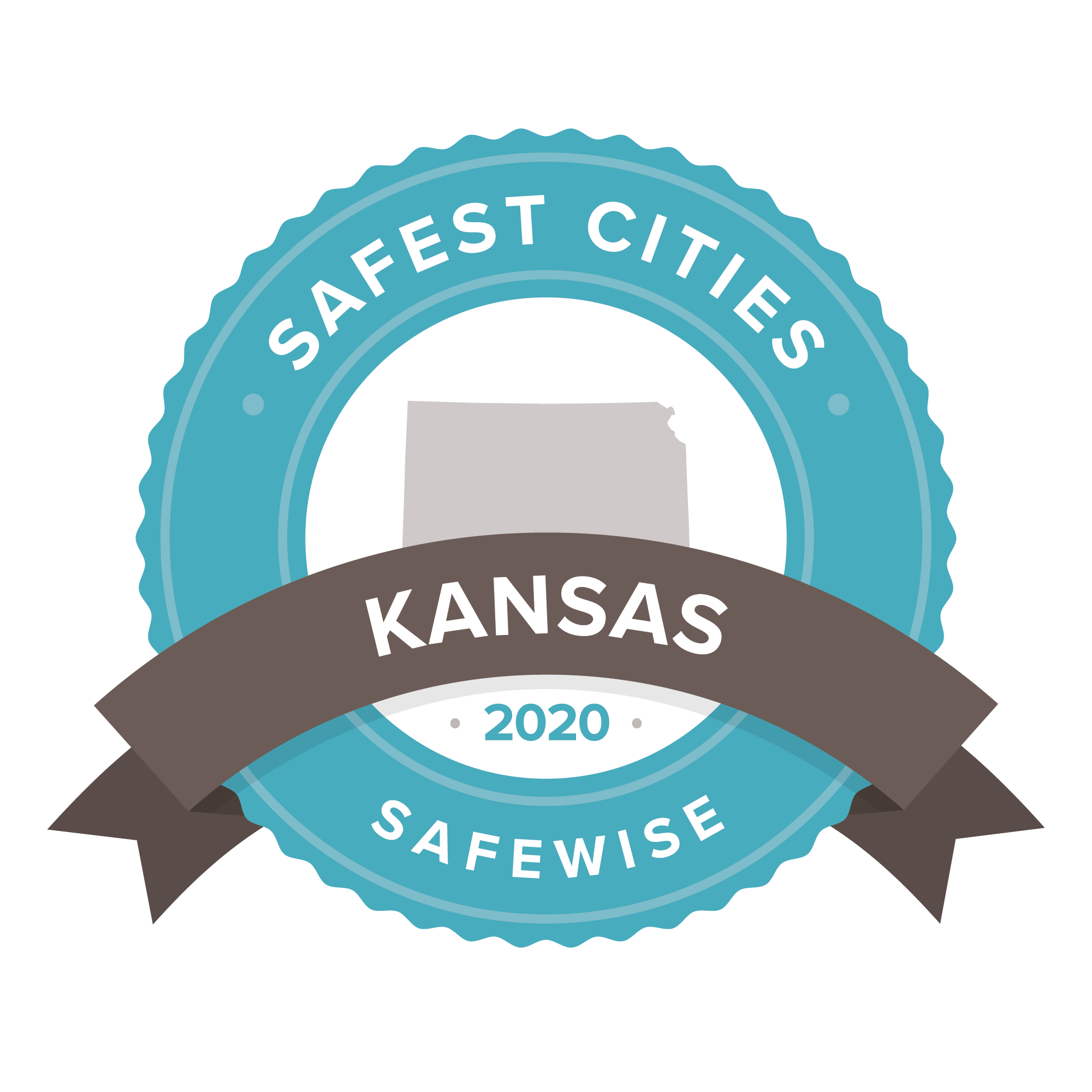 Kansas safest cities badge 2020