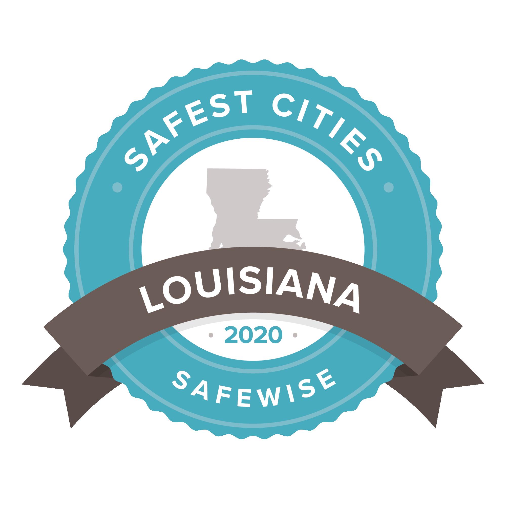Louisiana Safest Cities badge