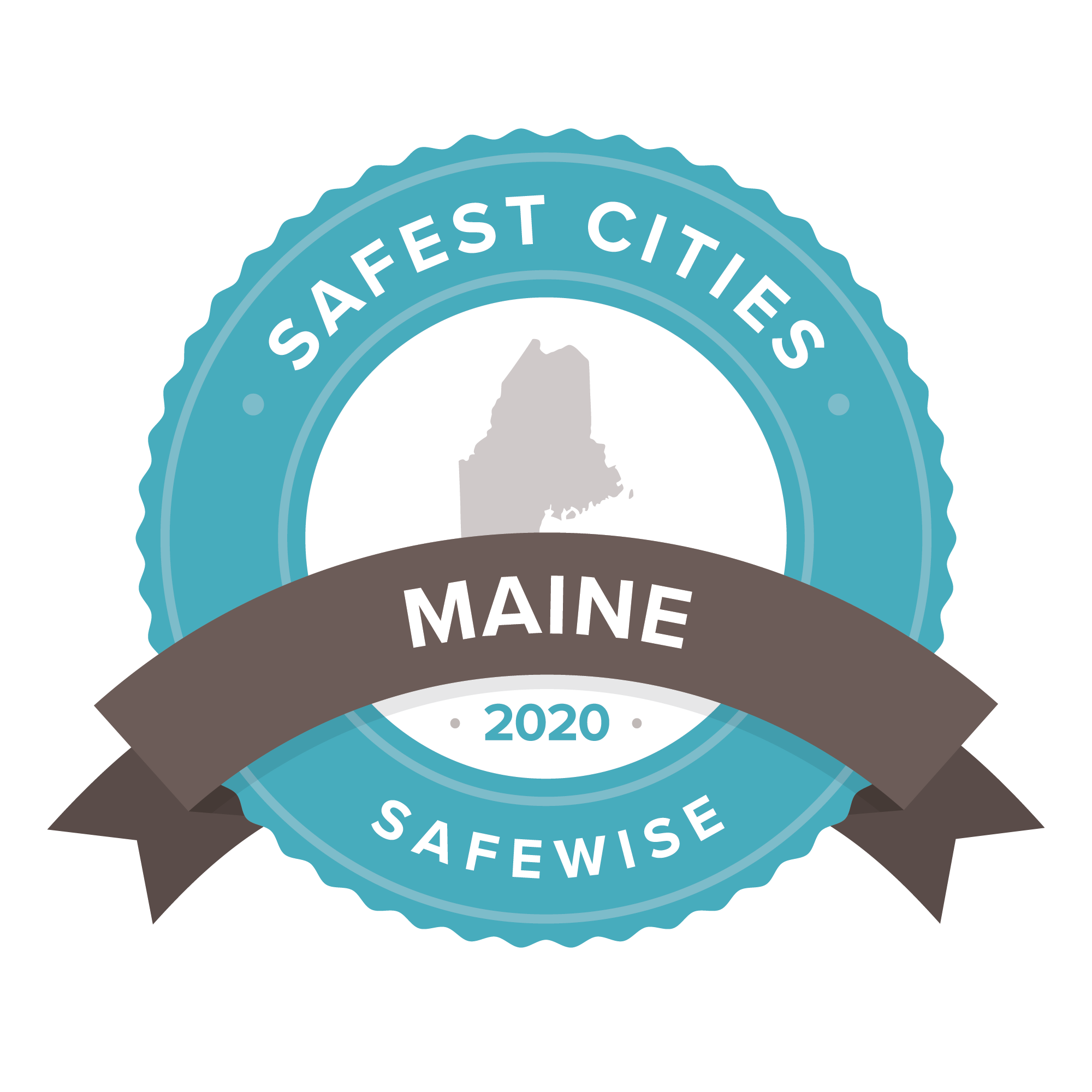 Maine safest cities badge 2020