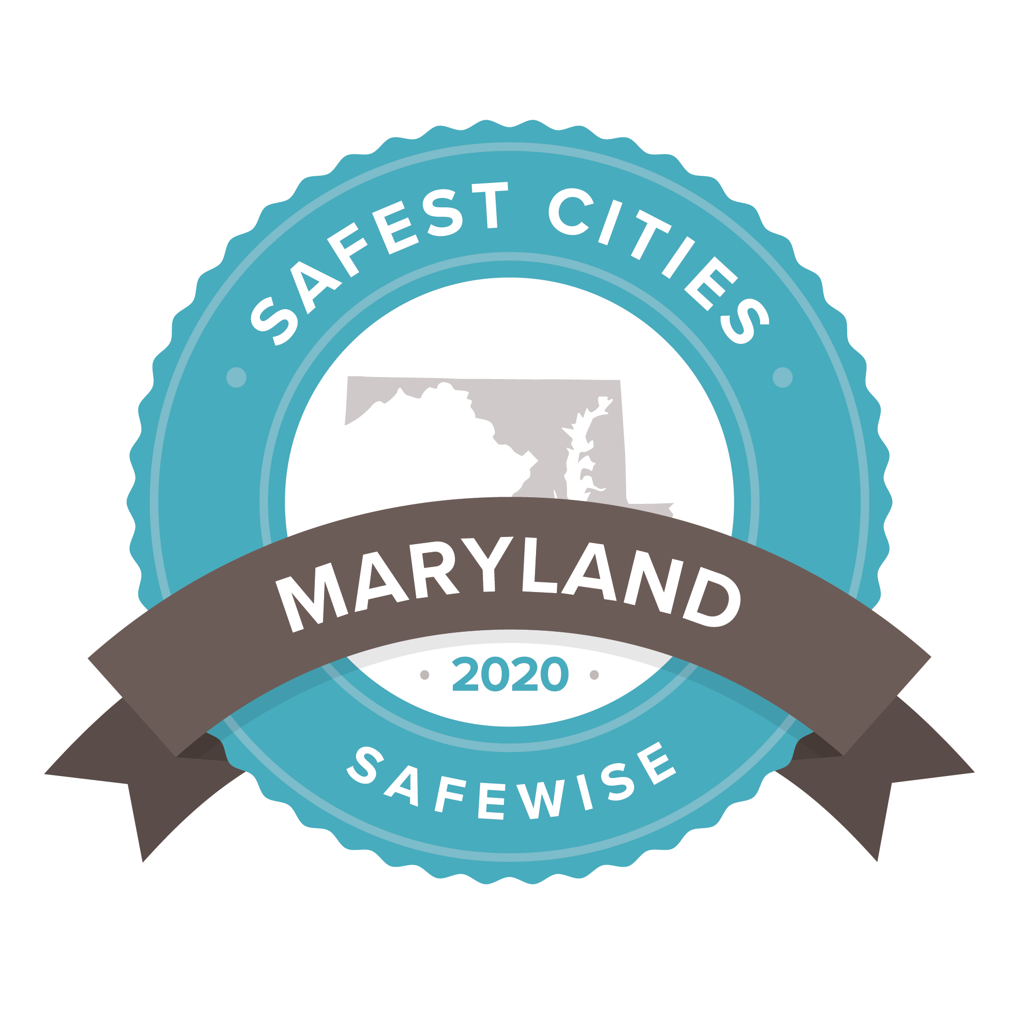 Maryland safest cities badge 2020