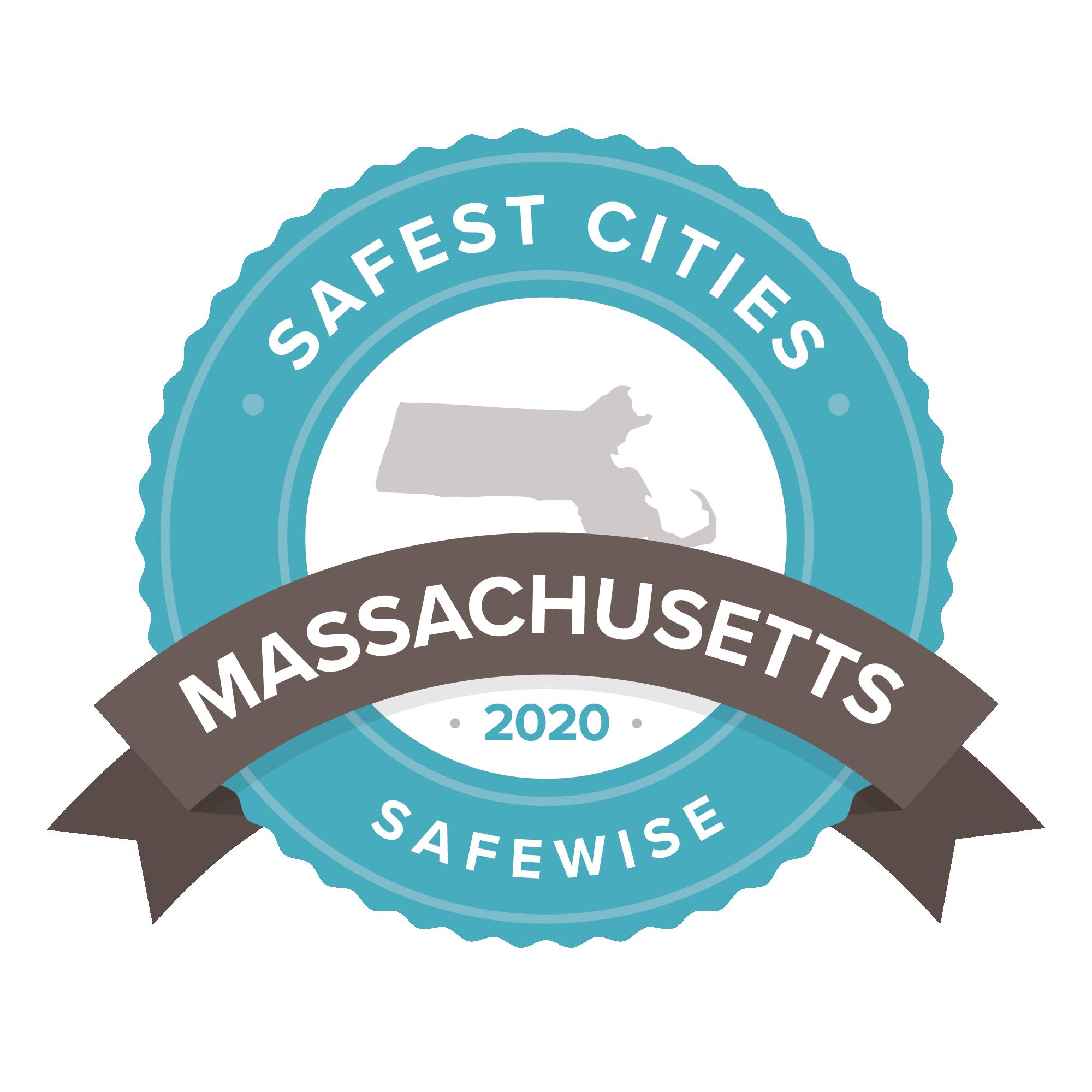 Massachusetts safest cities badge
