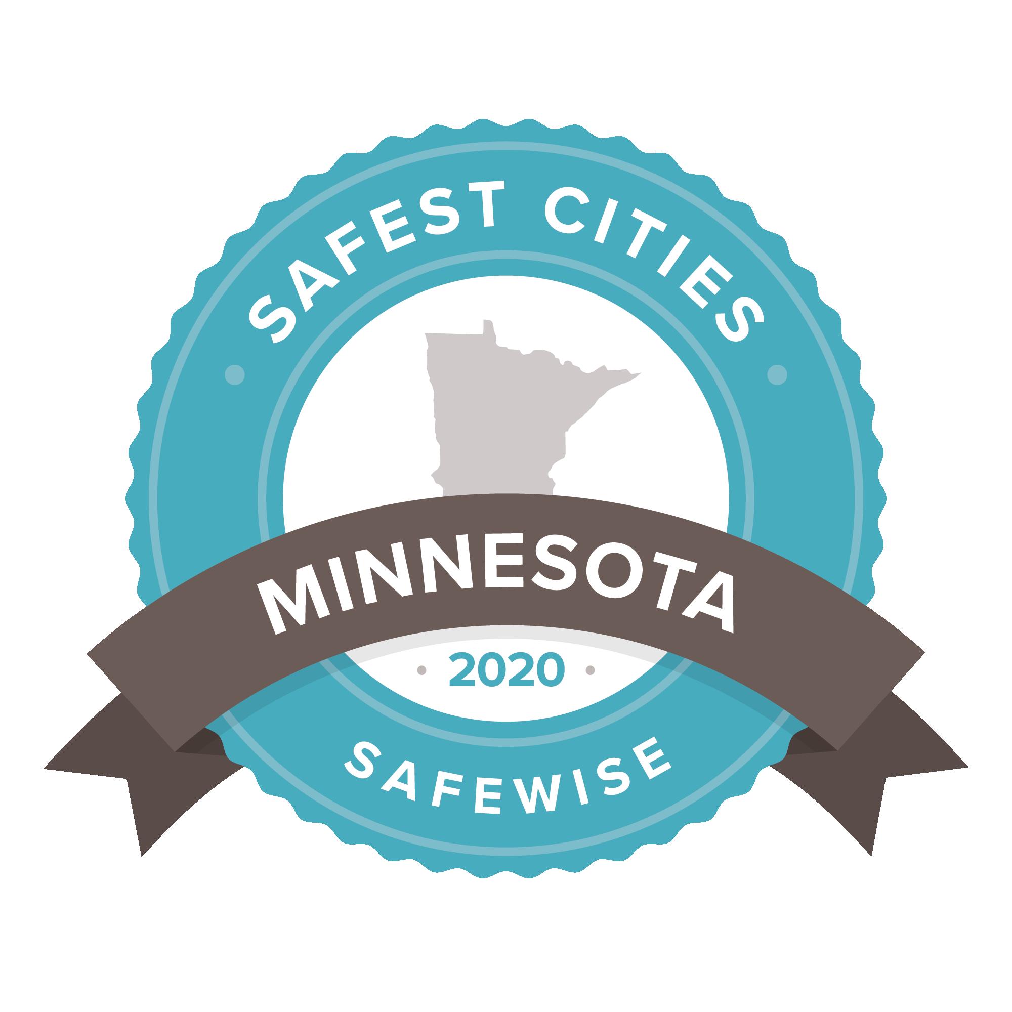 Minnesota safest cities badge