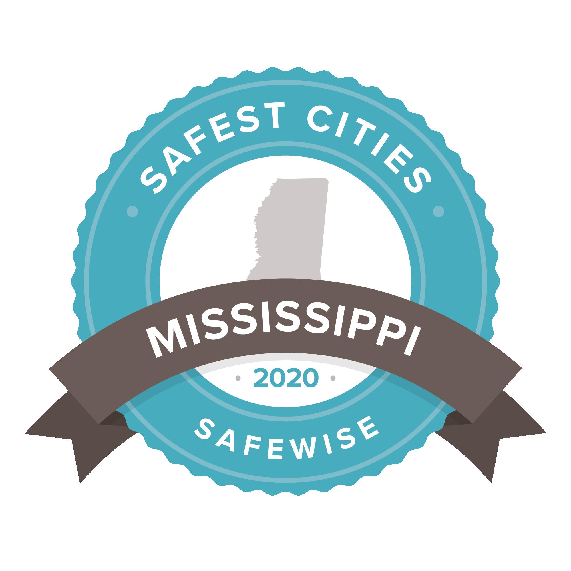 Mississipi safest cities badge