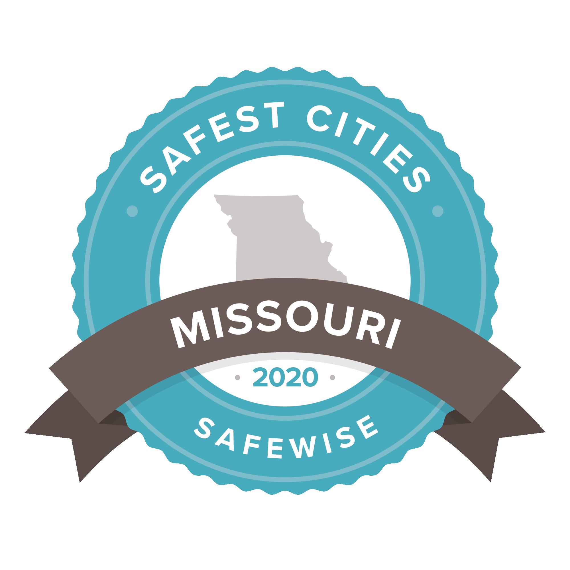 Missouri safest cities badge
