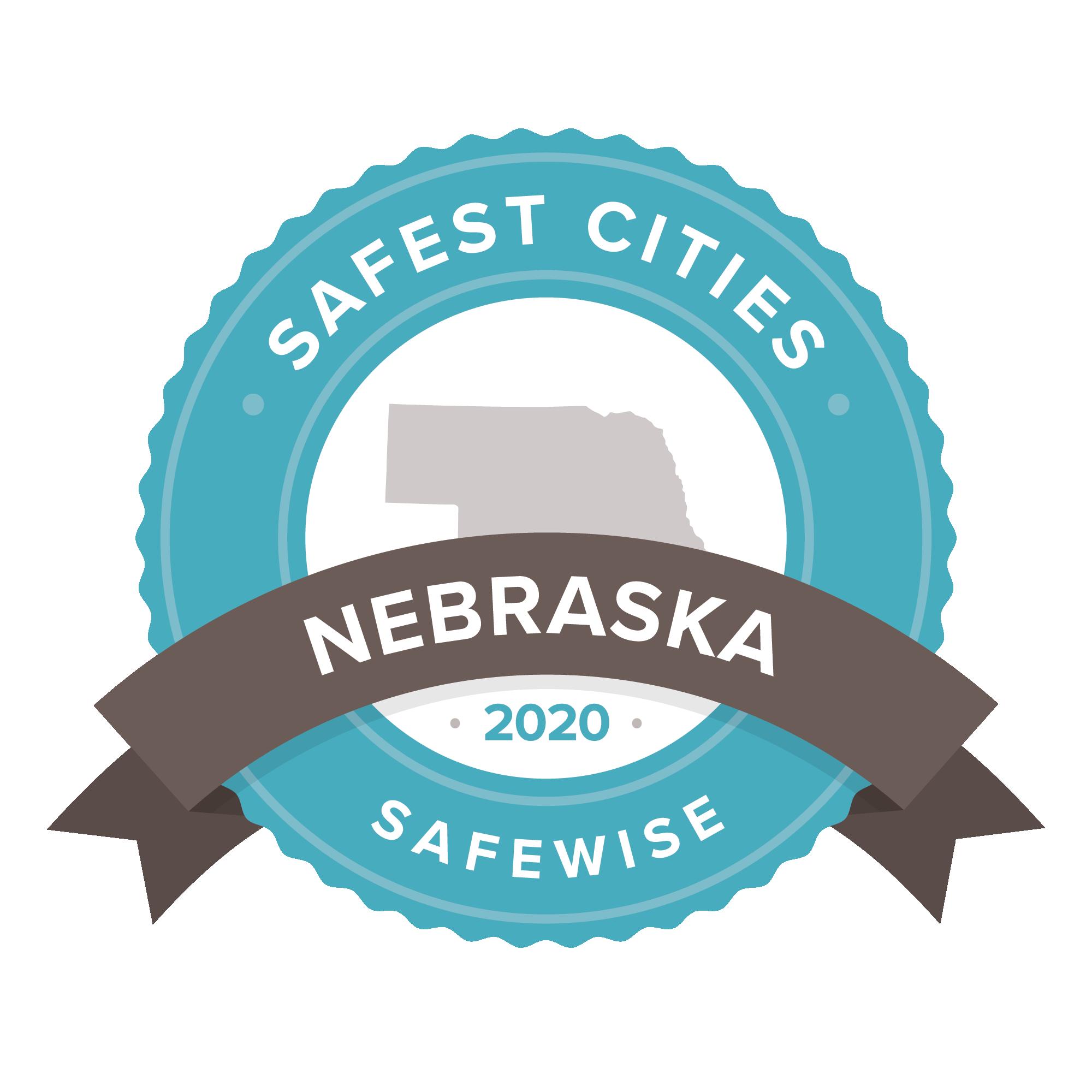Nebraska safest cities badge