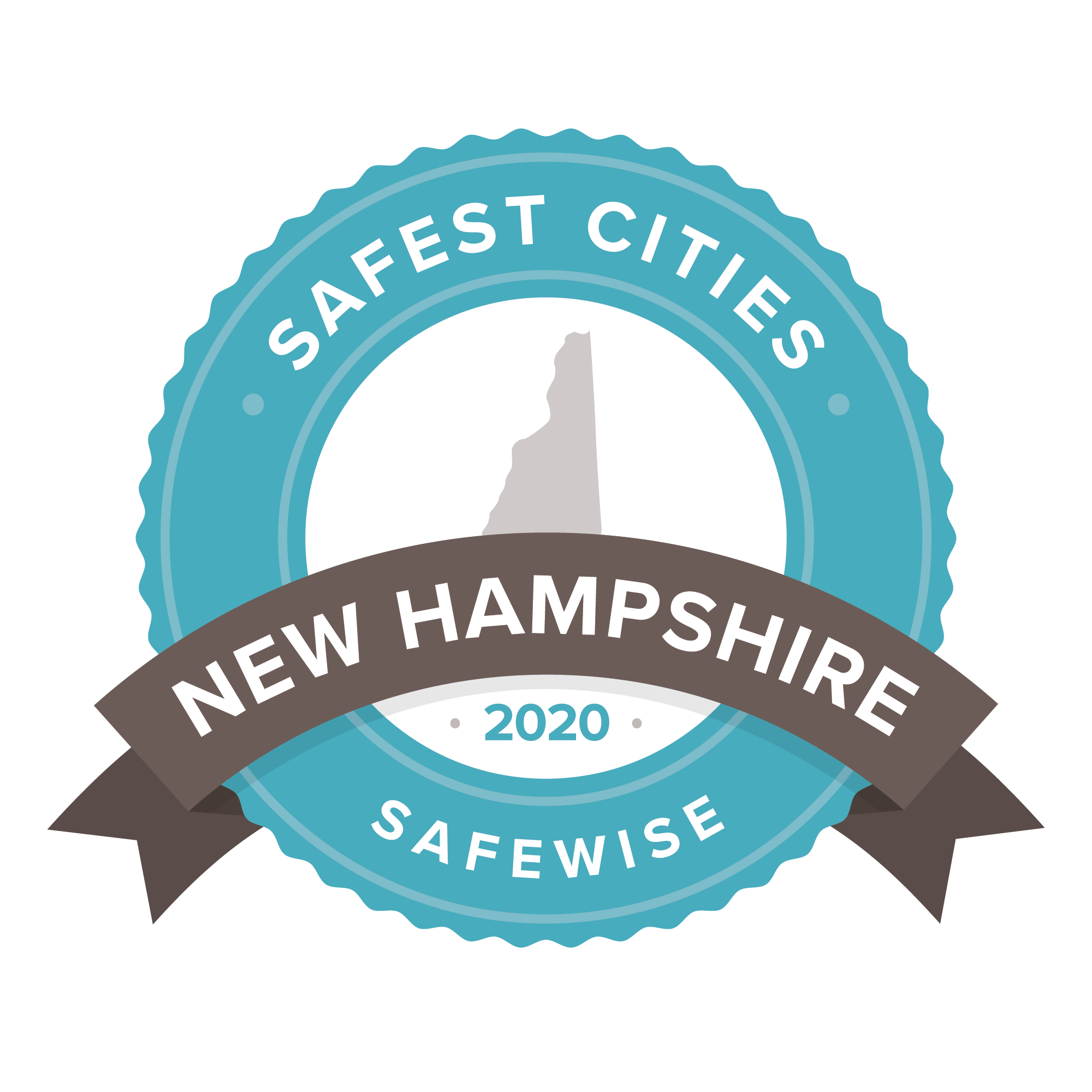 New Hampshire safest cities badge