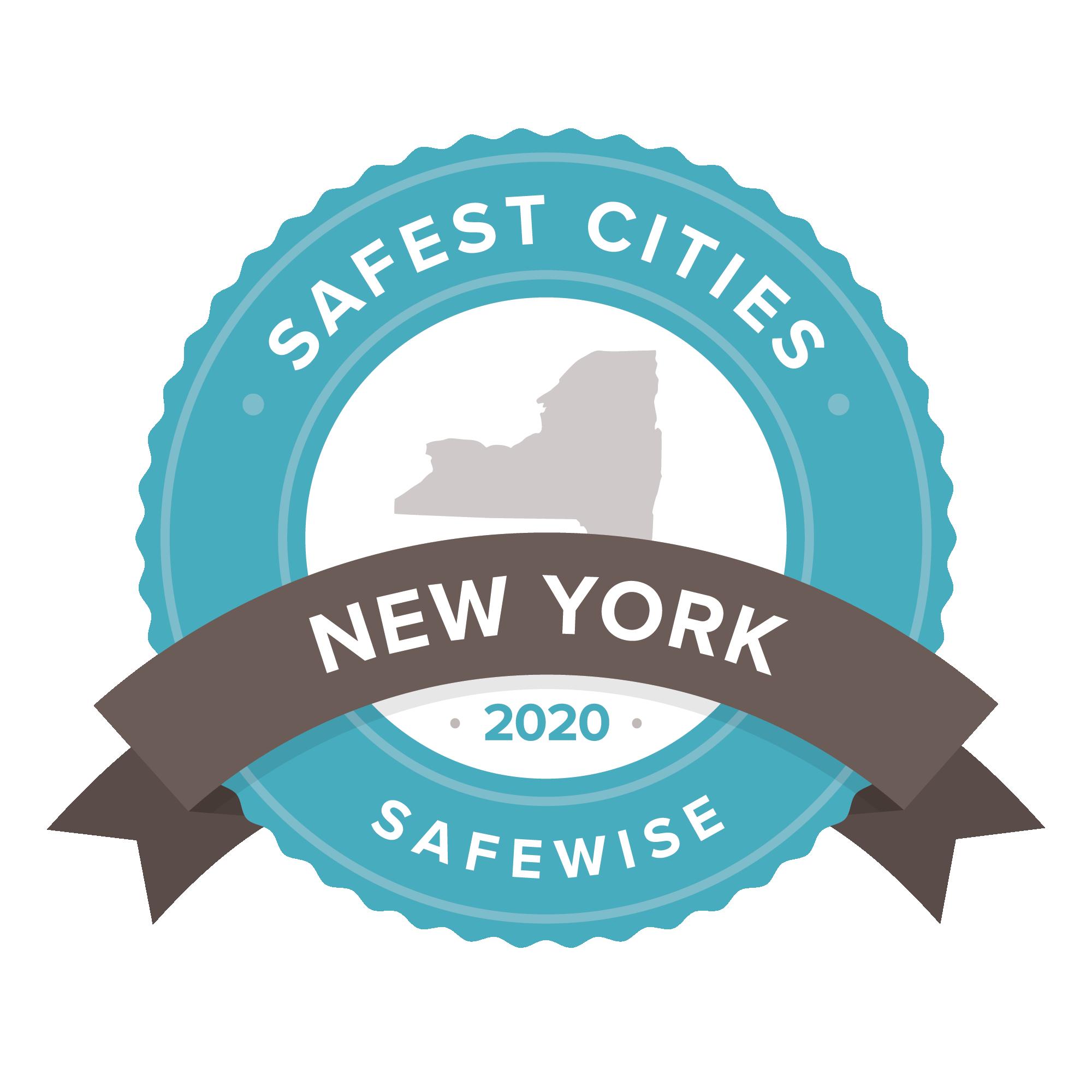 New York safest cities badge