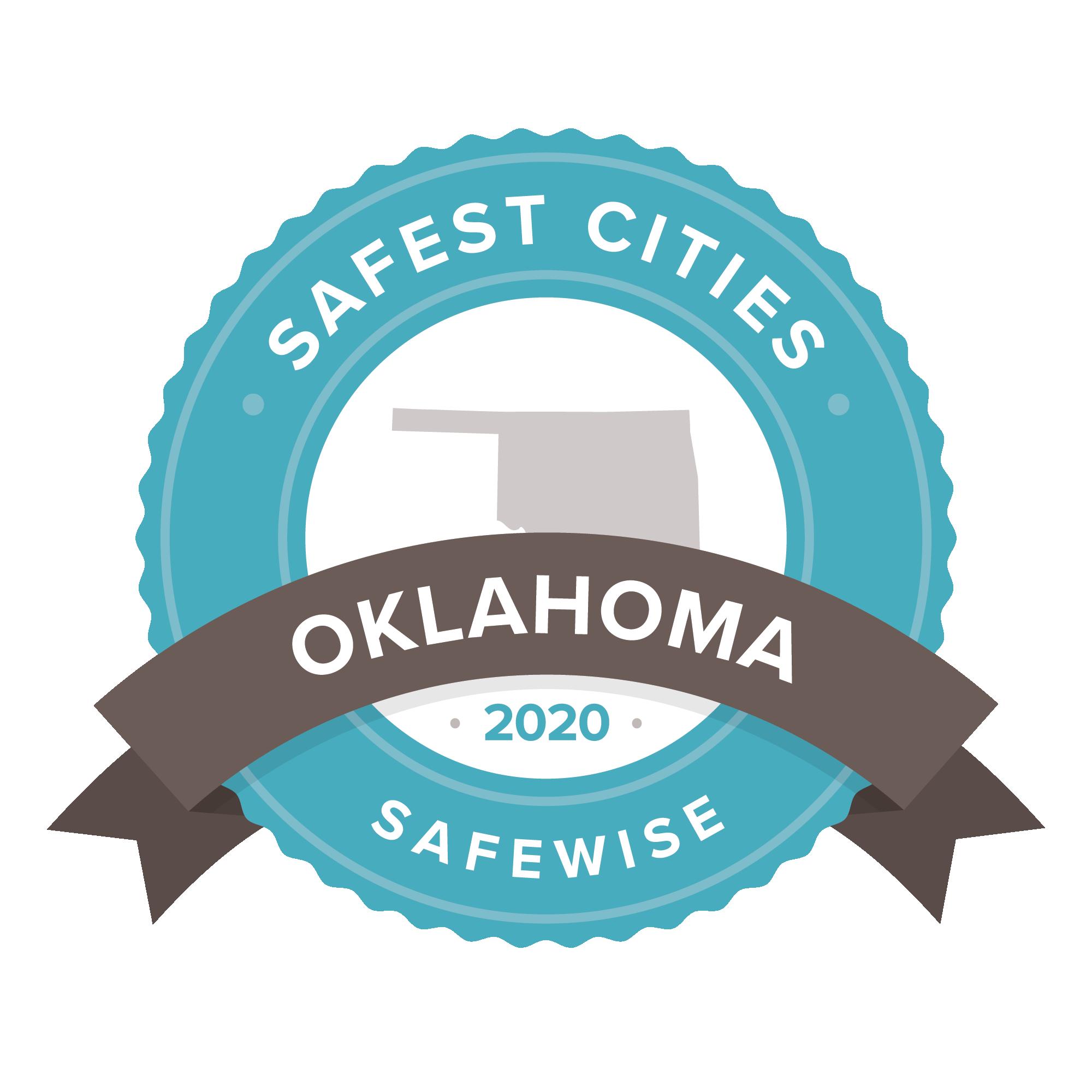 Oklahoma Safest Cities badge
