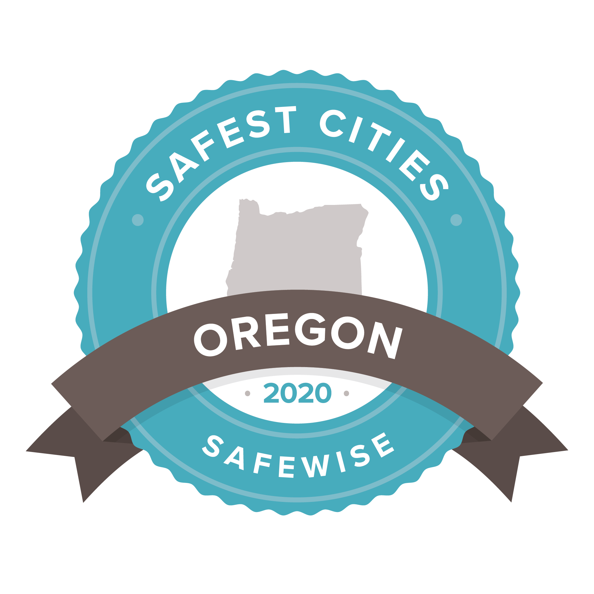 Safest Cities Oregon badge