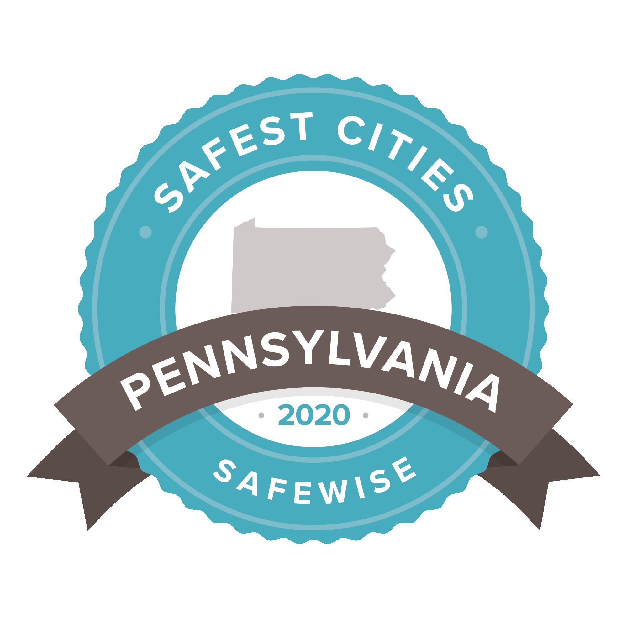 Safest Cities Pennsylvania badge
