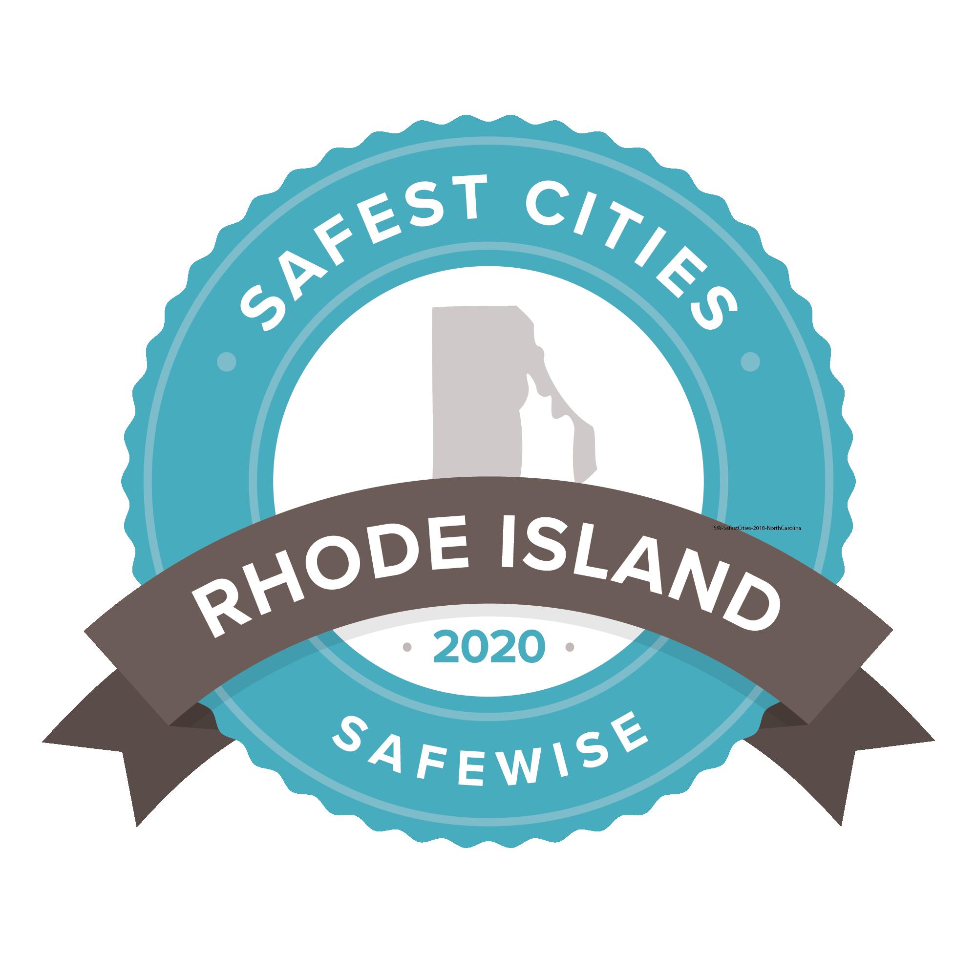 Safest Cities Rhode Island badge