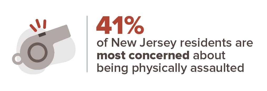New Jersey crime concern infographic