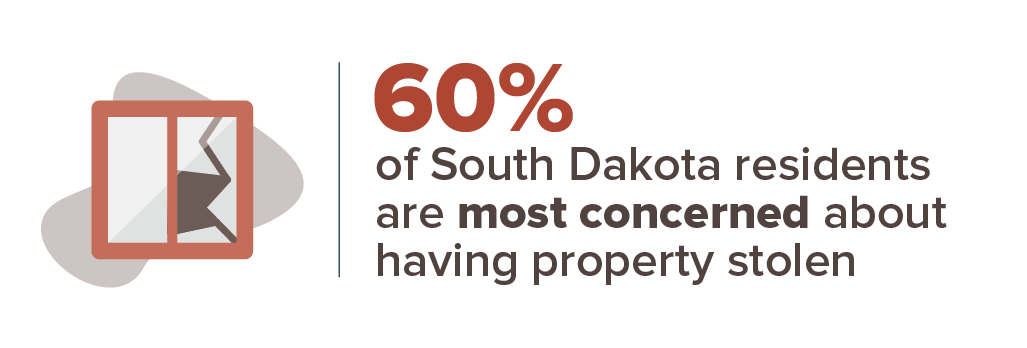 60 percent are most concerned about having property stolen