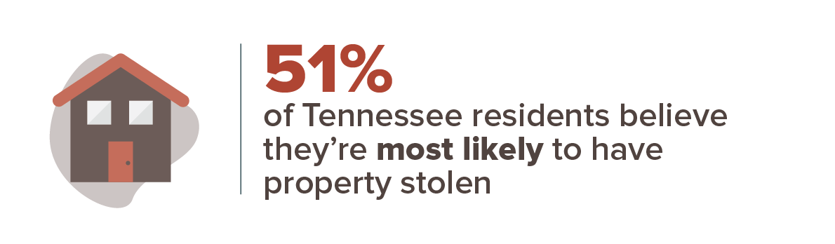 51 percent believe property theft is the most likely to happen