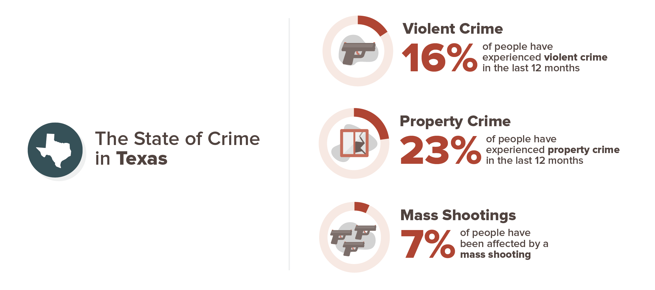 Texas crime experience infographic