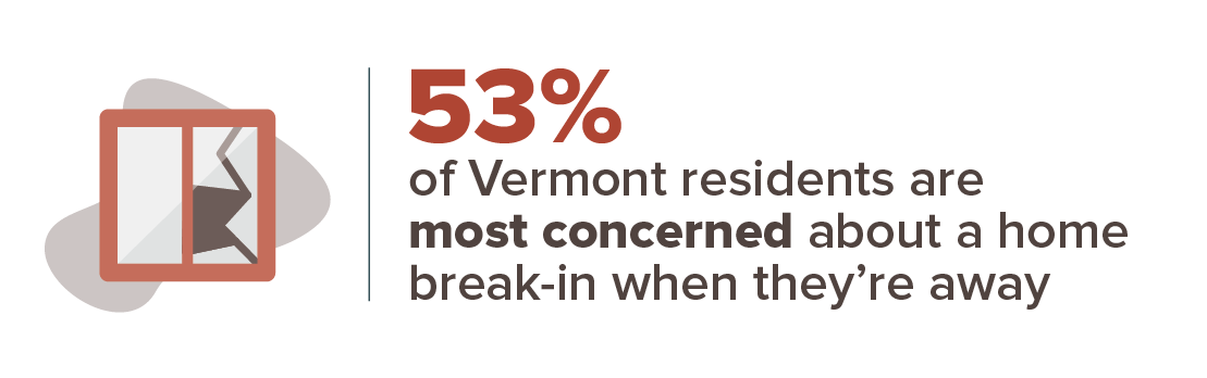 Vermont crime concern infographic