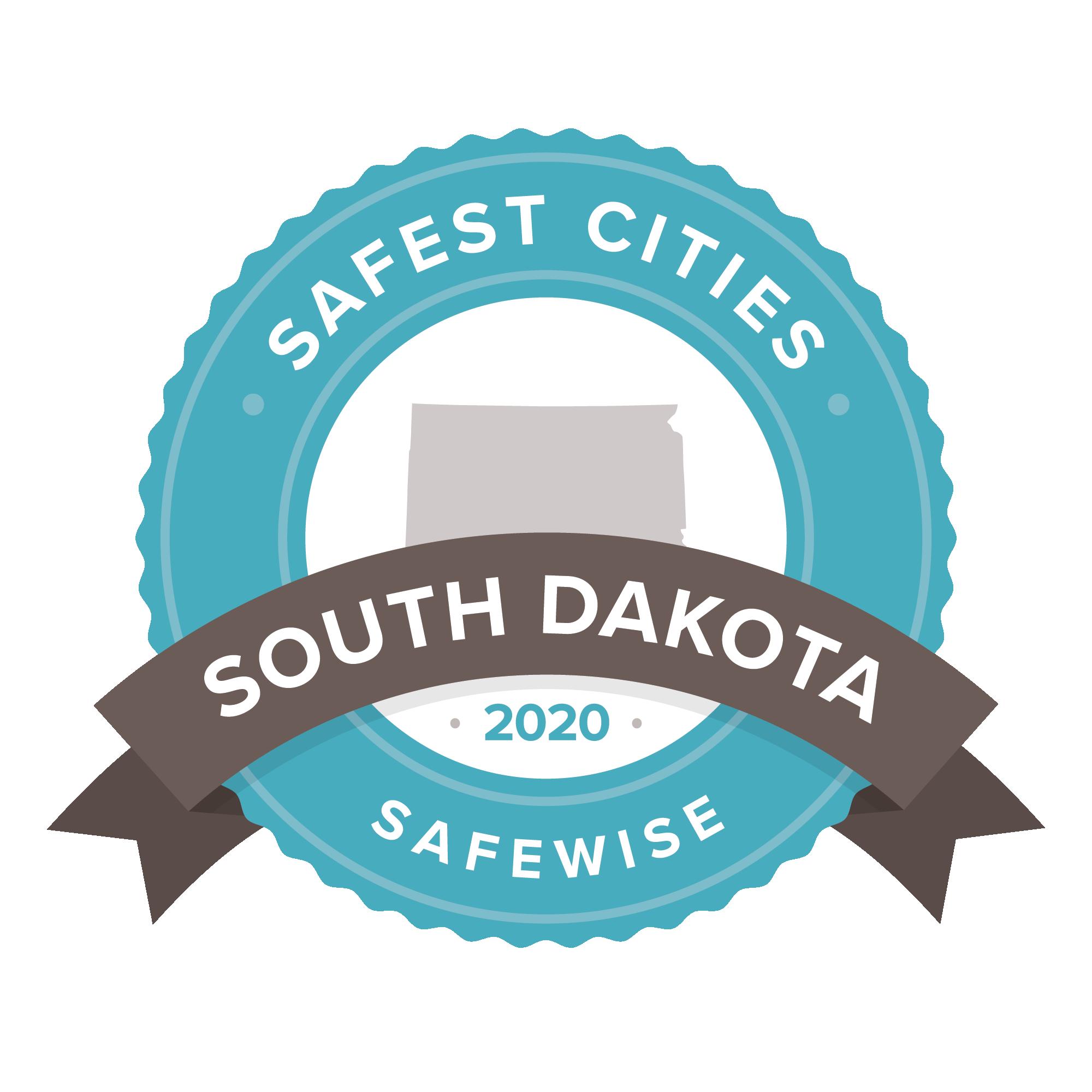 South Dakota Safest Cities badge