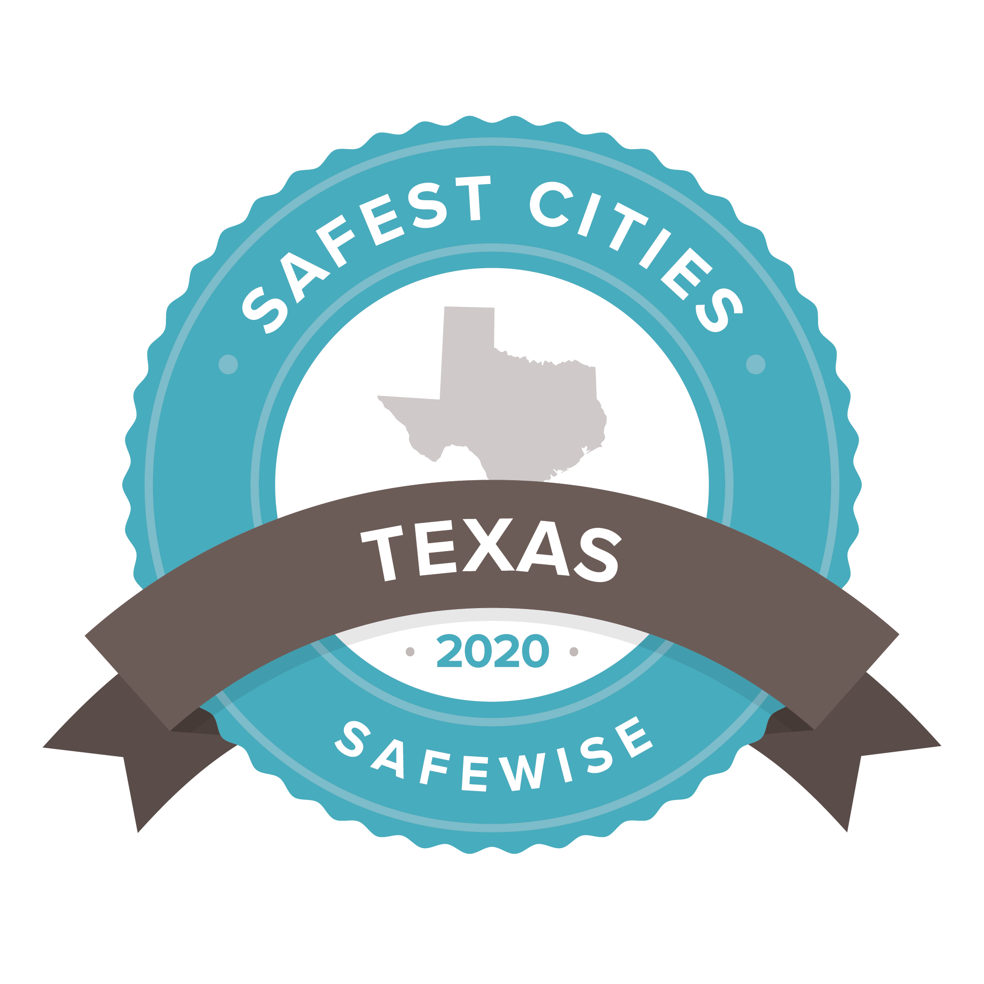 Texas safest cities badge